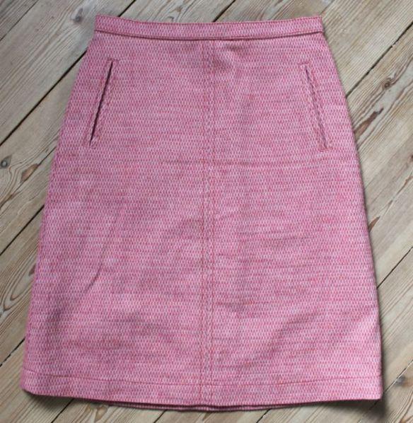 rød nederdel